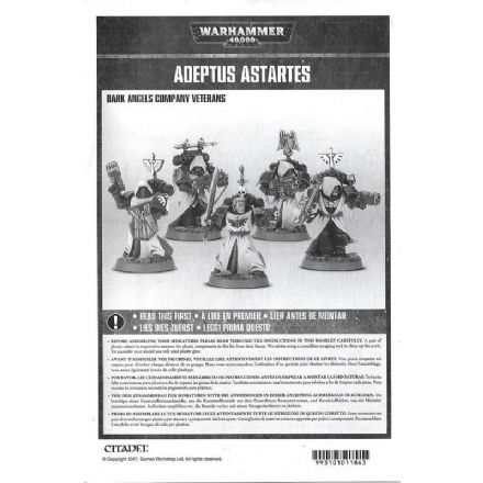 Dark Angels Company Veterans Rules Assembly booklet 2017